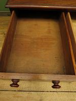 Antique Pedestal Partners Desk with Red Leather top and dummy drawers (13 of 13)