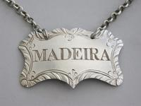 Rare Victorian Silver Goldsmiths Company Wine Label 'Madeira' by Charles Rawlings & William Summers, London, 1854 (5 of 9)