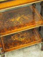 Pair of Victorian Marquetry Burr Walnut Etageres (12 of 12)