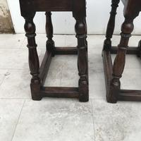 Pair of Oak Coffin Stools Circa Late 17th Century (17 of 24)