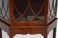 Antique Mahogany Display Cabinet on Stand (7 of 10)