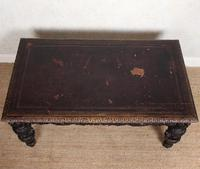 Carved Oak Desk Library Table Gothic Jacobean Large 19th Century (2 of 18)