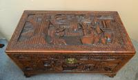 Oriental Carved Camphor Wood Trunk (3 of 7)