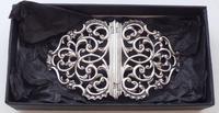 Rare Scottish Victorian 1897 Hallmarked Solid Silver Nurses Belt Buckle Glasgow (4 of 8)