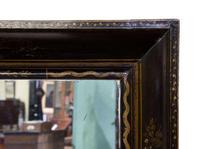 William & Mary Style Black & Gold Japanned Cushion Mirror (5 of 7)