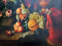 Old Master Revival - Large Original Antique Dutch Still Life of Flowers & Fruit (7 of 12)