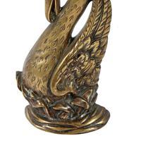 19th Century Brass Swan Door Stop (4 of 7)
