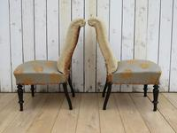 Pair of Antique French Slipper Chairs (6 of 9)