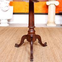 Georgian Walnut Oak Tripod Lamp Table (8 of 10)
