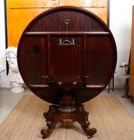 William IV Rosewood Breakfast Table Tilt Top Centre Dining Table (2 of 12)
