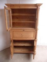 Victorian Waxed Antique Pine 2 Door 2 Piece Secretaire / Bookcase (10 of 10)