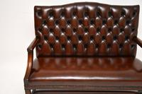 Leather & Mahogany Chippendale Style Sofa (12 of 12)