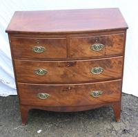 1900's Mahogany 4 Drawer Bow Chest Drawers just Polished