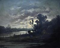 R T Stuart c1870 French Barbizon School Landscape Oil Painting (4 of 8)