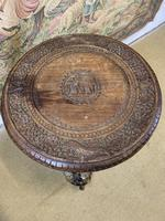 19th Century Anglo Indian Carved Elephant Occasional Table (3 of 4)