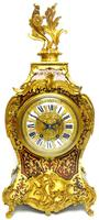 Rare Large Antique French Boulle Mantel Clock Ormolu Inlay 8 Day Mantle Clock (2 of 16)