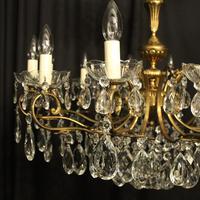 French Gilt & Crystal 12 Light Antique Chandelier Oka04051 (2 of 10)
