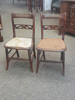 Pair of Brass Inlaid Chairs