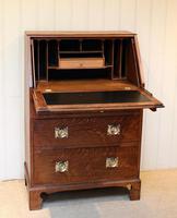 Arts and Crafts Oak Bureau (8 of 11)