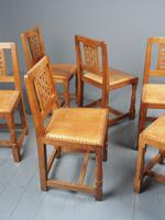 Mouseman Oak Dining Table & Set of 6 Chairs (6 of 20)