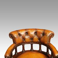 Pair of Victorian leather desk chairs (5 of 7)