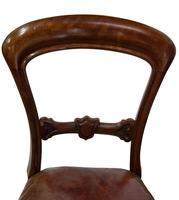 Set of 8 Good Quality Victorian Mahogany Balloon-Back Dining Chairs (3 of 8)