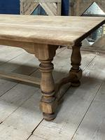 Deep Bleached Oak French Farmhouse Dining Table (15 of 20)