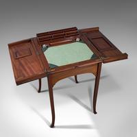 Antique Writing Desk, English, Mahogany, Side, Correspondence Table, Edwardian (9 of 12)
