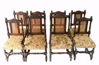 Set of 8 Oak Dining Chairs Barley Twist Farmhouse Diners (2 of 13)
