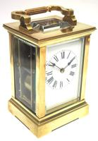 Good Antique French 8-day Carriage Clock Bevelled Case Large Dial & Carry Handle (13 of 13)