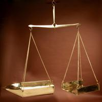 Frisian Brass Free Hanging Balance Beam Scales