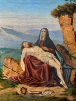 Pair of 19th Century Religious Old Master Oil Paintings - Set of 14 Available (25 of 32)