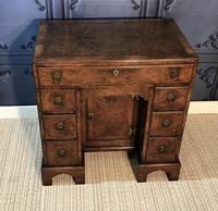 George III Style Burr Walnut Desk c.1920 (2 of 20)