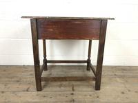 Antique Oak Side Table(m-2250) (9 of 9)