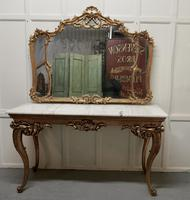 19th Century French Marble Top Gilt Centre Table & Matching Wall Mirror (10 of 11)
