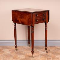 19th Century Mahogany Pembroke Work Table (6 of 13)