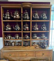 Collection of 24 Measham Bargeware Teapots & Jugs on 19th Century Dresser (2 of 4)