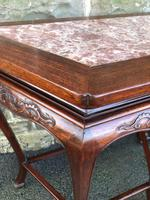 Pair of Oriental Chinese Marble Top Console Tables (4 of 12)