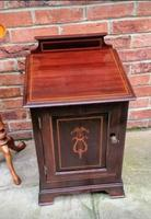 Edwardian Mahogany Wood Bedside Cabinet - Converted Purdonium (2 of 9)