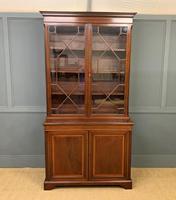Good Edwardian Inlaid Mahogany Bookcase (2 of 16)