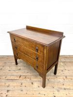 Early 20th Century Oak Chest of Drawers (6 of 9)