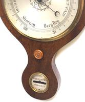 Good Mahogany 5 Glass Barometer Thermometer with Onion Top (8 of 10)