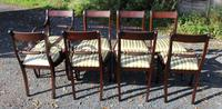 1960s -set 8 Mahogany Rope Back Dining Chairs with Pop Out Seats 6+2 Carvers (3 of 3)