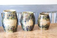 Scottish Pottery Slipware Barrel Storage Jars x4 (8 of 35)