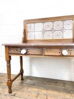 Antique Pine Tile Back Washstand (4 of 15)