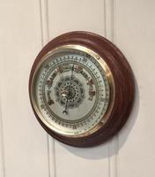 Edwardian Oak Aneroid Barometer c.1901 (3 of 8)