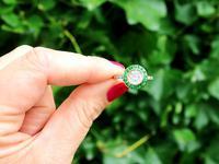1.05ct Emerald & 1.18ct Diamond, 18ct Yellow Gold Dress Ring c.1930 (2 of 9)