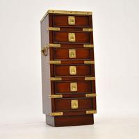 Antique Military Campaign Style Mahogany Miniature Chest of Drawers (11 of 12)