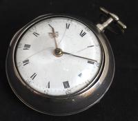 Antique Silver Pair Case Pocket Watch Fusee Verge Escapement Key Wind Enamel Dial W J Wolverhampton (11 of 11)