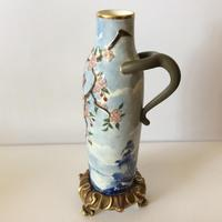 Royal Worcester Aesthetic Design Vase with Stork Locus & Cherry Blossom Detail (8 of 12)